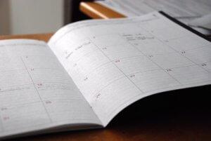 Agenda via boekingsformulier in het boekingssysteem