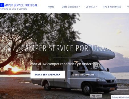nieuwe website camper service portugal