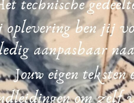Website teksten